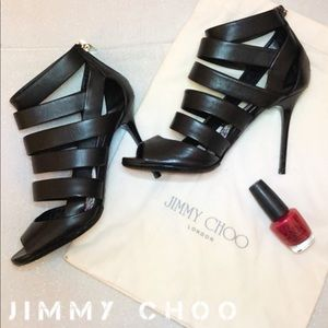 Jimmy Choo Shoes Sandals Cage Leather Damsen Heels